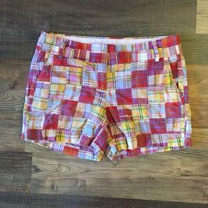 J Crew Madras Plaid Shorts